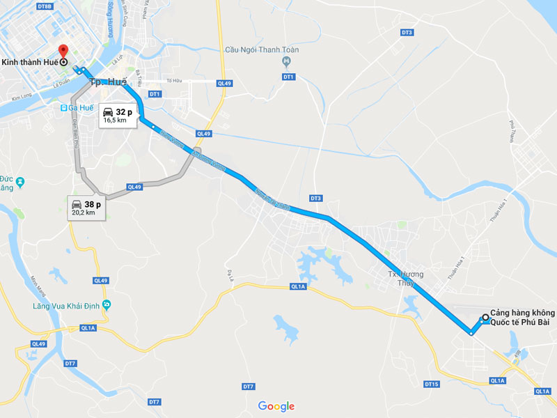 Vé máy bay Hồ Chí Minh đi Huế